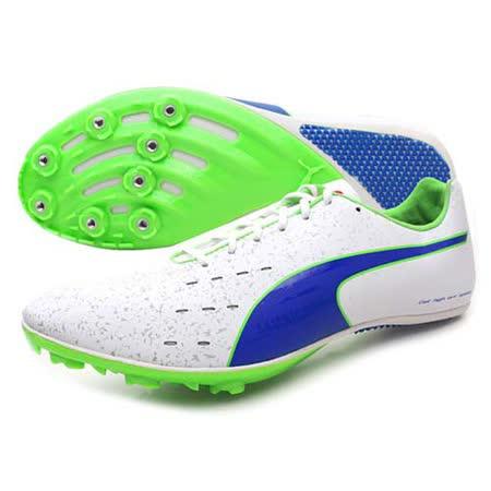 (男) PUMA TFX SPRINT V5 田徑釘鞋 - 競賽 短距離 白藍綠