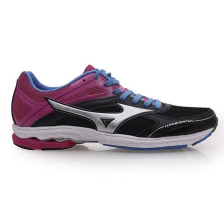 (女) MIZUNO WAVE IDATEN DYNA 2 路跑鞋-慢跑  黑桃紅紫