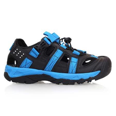 (男) DIADORA 運動涼鞋-涼鞋 護趾 魔鬼氈 排水  黑藍