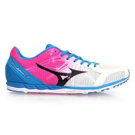 (女) MIZUNO WAVE EKIDEN 9 馬拉松鞋-路跑 慢跑鞋 白粉紅