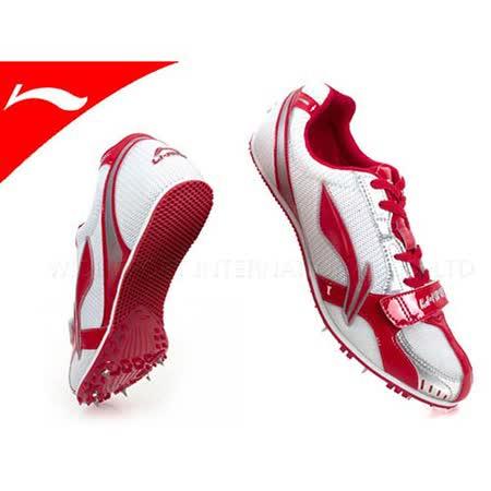 (男女) LI-NING 李寧獵鷹 專業田徑釘鞋  白紅