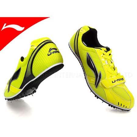 (男女) LI-NING 李寧獵鷹 專業田徑釘鞋  螢光綠黑