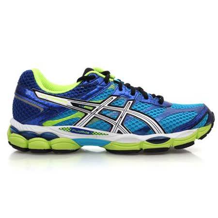 (男) ASICS GEL-CUMULUS 16-2E 慢跑鞋-路跑 寬楦 藍螢光綠