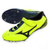 (男女) MIZUNO GEO SILENCER 7 田徑釘鞋-短距離 跨欄 螢光黃黑