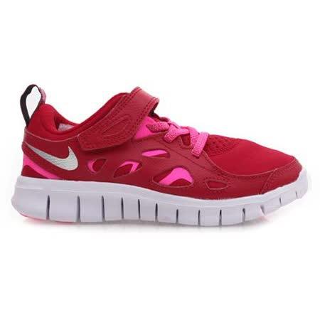 (童) NIKE FREE RUN 2 PRINT-PSV 中慢跑鞋- 女鞋 紅粉紅