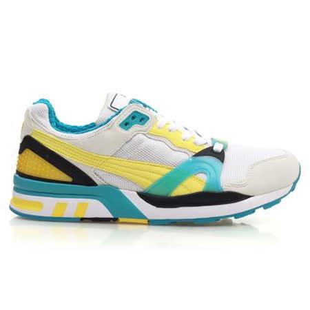 (男) PUMA TRINOMIC XT 2 PLUS 休閒運動鞋 白黃湖水藍