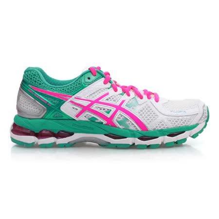 (女) ASICS GEL-KAYANO 21 慢跑鞋- 路跑 亞瑟士 白綠粉