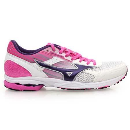 (女) MIZUNO WAVE SPACER DYNA 2 路跑鞋- 慢跑 白粉紫