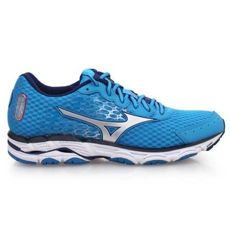 (男) MIZUNO WAVE INSPIRE 11 慢跑鞋-路跑 美津濃  寶藍銀