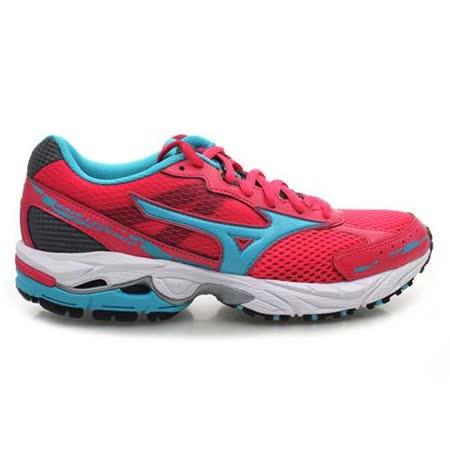 (女) MIZUNO WAVE LEGEND 2 慢跑鞋 - 路跑 美津濃 桃紅水藍