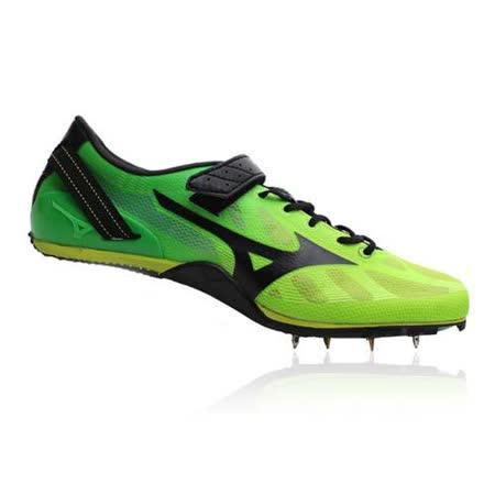 (男) MIZUNO GEO SPRINT 2 田徑釘鞋-跑步 短距離 螢光綠黑