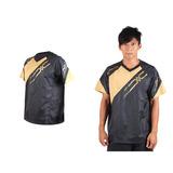 (男) MIZUNO NXT短袖排球服-運動T恤 暖身服 美津濃 黑金