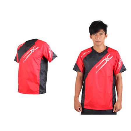 (男) MIZUNO NXT短袖排球服-運動T恤 暖身服 美津濃 紅黑銀