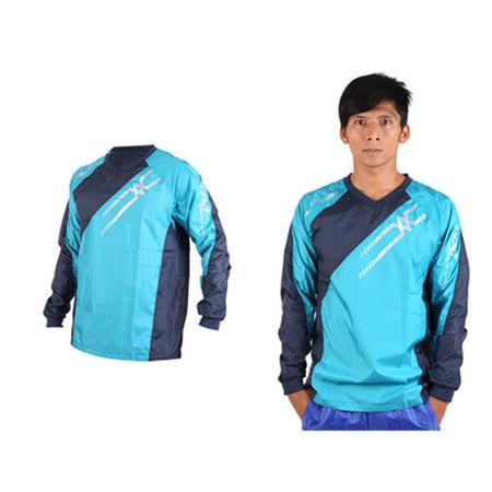 (男) MIZUNO NXT 長袖排球服-運動T恤 暖身服 美津濃 湖水藍丈青銀