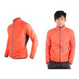 (男) MIZUNO 防風外套-慢跑 路跑 風衣 運動外套 美津濃 橘藍