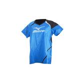 (女) MIZUNO 日本進口 短袖排球服-短袖T恤 暖身衣 美津濃 寶藍黑銀