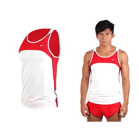 (男) NIKE 日本進口 田徑背心-慢跑 路跑 運動背心 紅白