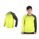 (男) MIZUNO 網球長袖T恤-排球 羽球 長袖T恤 美津濃 芥末綠黑