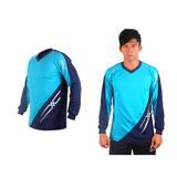 (男) MIZUNO 排球長袖T恤-運動T恤 美津濃 NXT系列 湖水藍