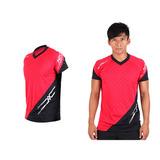 (男) MIZUNO 排球短袖T恤-運動T恤 美津濃 NXT系列 紅黑