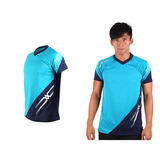 (男) MIZUNO 排球短袖T恤-運動T恤 美津濃 NXT系列 湖水藍