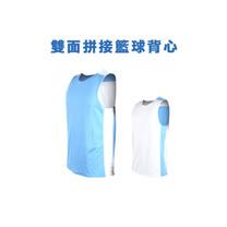 (男女) INSTAR  雙面穿籃球背心-運動背心 台灣製 北卡藍白