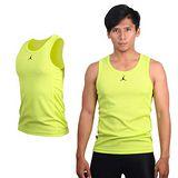 (男) NIKE 喬丹系列針織背心-籃球 運動 戶外 室內 芥末綠黑