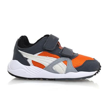 (童) PUMA XS 500 KIDS 男女中慢跑鞋-鞋 運動鞋 灰橘白