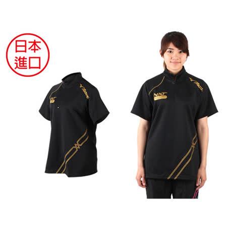 (女) MIZUNO 日本進口-排球熱身T恤 黑金