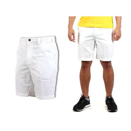 (男) MIZUNO 平織短褲 白