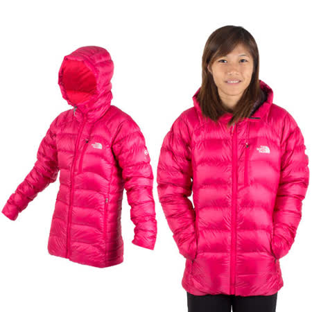 THE NORTH FACE 800FILL女羽絨保暖外套桃紅-S