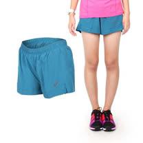 (女) ASICS 慢跑平織短褲- 路跑 亞瑟士 藍綠