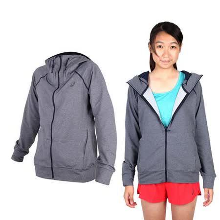(女) ASICS 運動外套- 刷毛 立領外套 保暖 亞瑟士 深灰黑