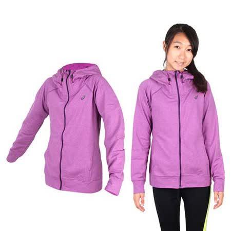 (女) ASICS 運動外套- 刷毛 立領外套 保暖 亞瑟士 紫黑