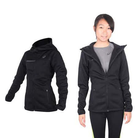 (女) ASICS 運動外套- 刷毛 立領外套 保暖 亞瑟士 黑