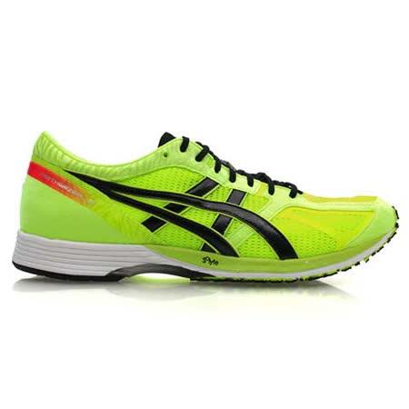 (男) ASICS TARTHERZEAL 3 虎走路跑鞋- 慢跑 亞瑟士 螢光綠黑