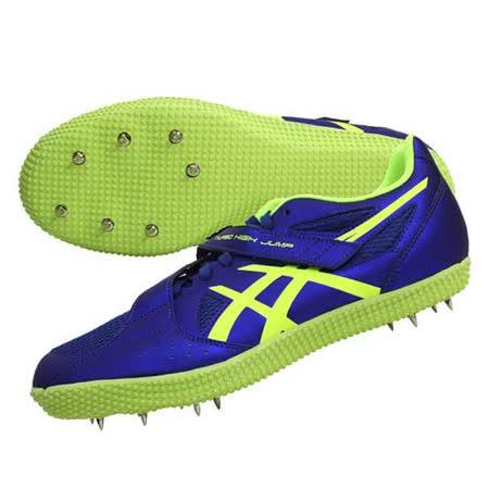 (男女) ASICS TURBO HIGH JUMP 2田徑釘鞋-跳高 藍螢光綠
