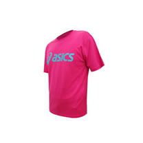 (男) ASICS LOGO 短袖T恤-慢跑 路跑 亞瑟士  桃紅湖水藍