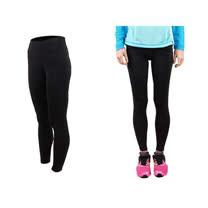(女) FIRESTAR 機能緊身長褲-慢跑 路跑 馬拉松  黑