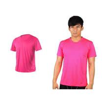 (男女) HODARLA 激膚無感衣 涼感短T恤-0秒吸排抗UV輕量吸濕排汗 透明粉紅