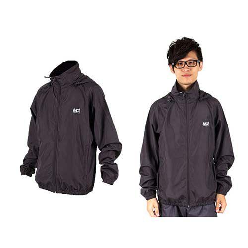 (男) MJ3 平織單層風衣-慢跑 防風外套 運動外套  深灰