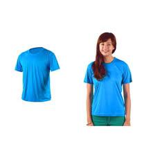 (男女) HODARLA 激膚無感衣 涼感短T恤-0秒吸排抗UV輕量吸濕排汗 藍
