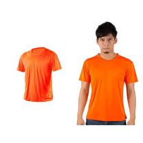 (男女) HODARLA 激膚無感衣 涼感短T恤-0秒吸排抗UV輕量吸濕排汗 陽光橘