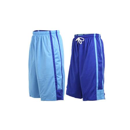 (男女) INSTAR 雙面穿籃球褲-運動短褲 台灣製 寶藍北卡藍
