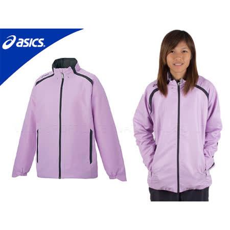 ASICS平織外套 淺紫深灰 女 M