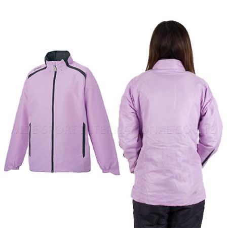 ASICS 女款平織外套-淺紫 M