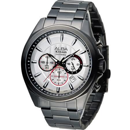 ALBA 雅柏 活力型男競速計時腕錶 VD53-X219SD AT3829X1