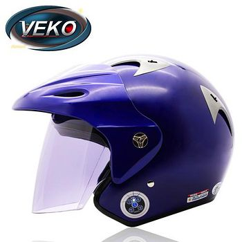 VEKO 藍芽4.0立體聲專利安全帽 (BTS-M1藍)