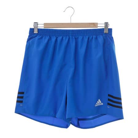 adidas (男)運動排汗短褲-藍-AA6890