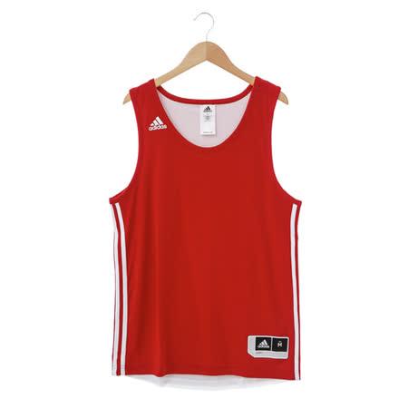 adidas (男)基本款排汗運動背心-紅-E71813